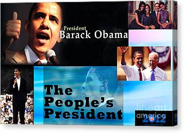 The People's President Canvas Print by Terry Wallace