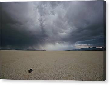 The Perfectly Flat, Cracked Desert Canvas Print
