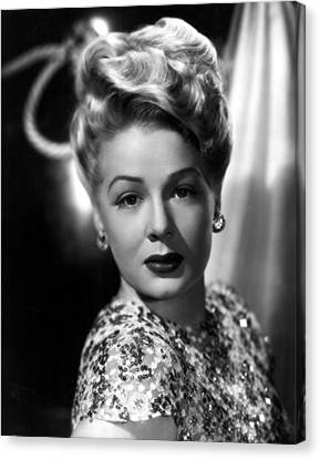 The Perils Of Pauline, Betty Hutton Canvas Print by Everett