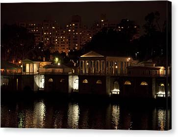 The Philadelphia Waterworks All Lit Up Canvas Print by Bill Cannon