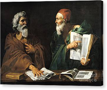 The Philosophers Canvas Print by Master of the Judgment of Solomon