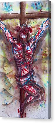 The Physical Death Of Jesus Canvas Print by Thomas Lentz