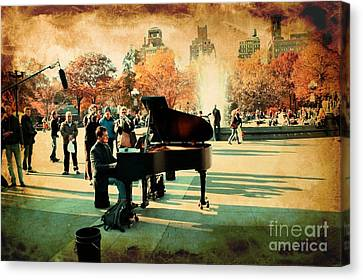 The Piano Man Canvas Print by Ken Marsh