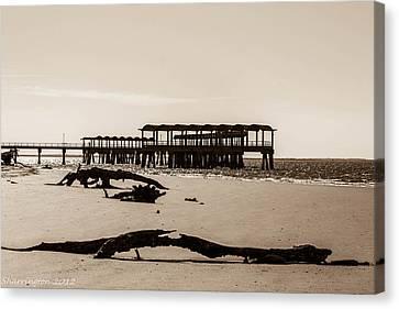 Canvas Print featuring the photograph The Pier by Shannon Harrington