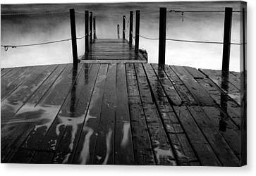 The Pier...protaras Canvas Print by Stelios Kleanthous