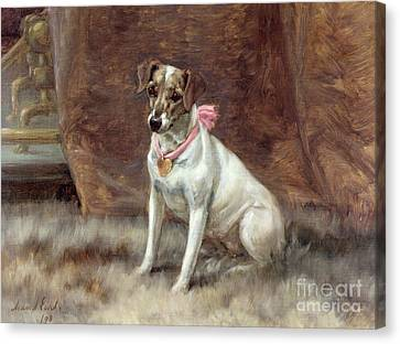 The Pink Bow Canvas Print by Maud Earl