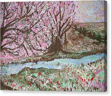 The Pink Tree Canvas Print