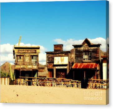 The Pioneer Hotel Old Tuscon Arizona Canvas Print by Susanne Van Hulst