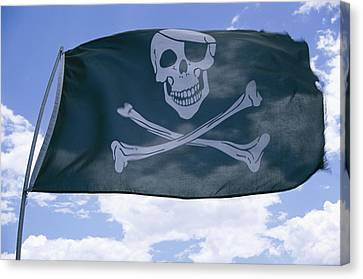 The Pirate Flag Known As The Jolly Canvas Print by Stephen St. John