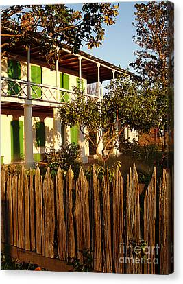 Canvas Print featuring the photograph The Pitot House With Wood Fence by Jeanne  Woods