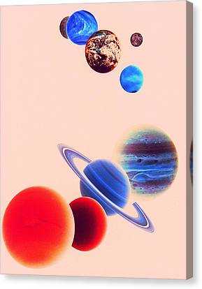 The Planets, Excluding Pluto Canvas Print by Digital Vision.