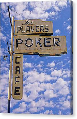 The Players Poker Cafe Canvas Print by Ron Regalado