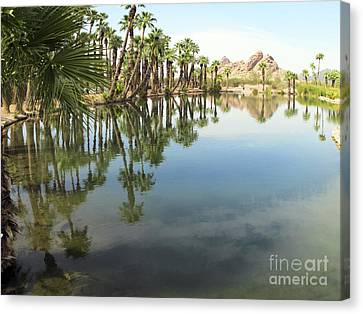 Canvas Print featuring the photograph The Pond by Leslie Hunziker