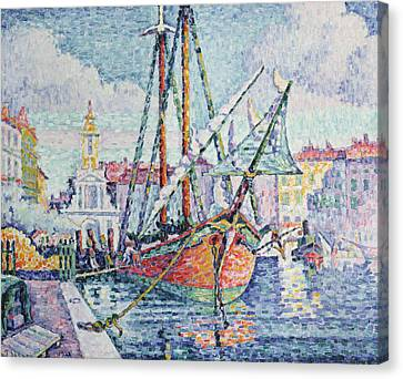 The Port Canvas Print by Paul Signac