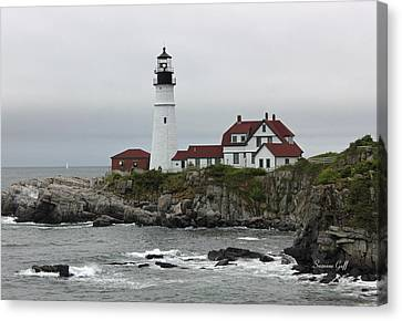 The Portland Light Canvas Print by Suzanne Gaff