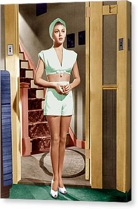 The Postman Always Rings Twice, Lana Canvas Print by Everett