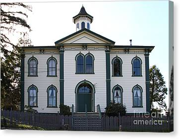 The Potter School House . Bodega Bay . Town Of Bodega . California . 7d12487 Canvas Print by Wingsdomain Art and Photography