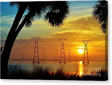 The Power Of Sunrise Canvas Print by Lynda Dawson-Youngclaus