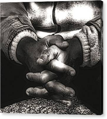 The Prayer Canvas Print by Kenneth Mucke