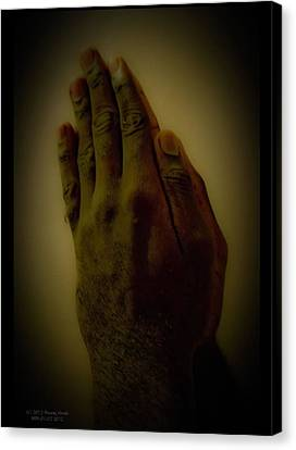 The Praying Hands Canvas Print by David Alexander