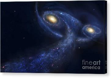 Merging Canvas Print - The Predicted Collision by Fahad Sulehria