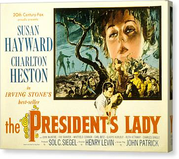 The Presidents Lady, Charlton Heston Canvas Print by Everett
