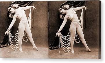 The Primadonna, A Stereo Photo Canvas Print by Everett