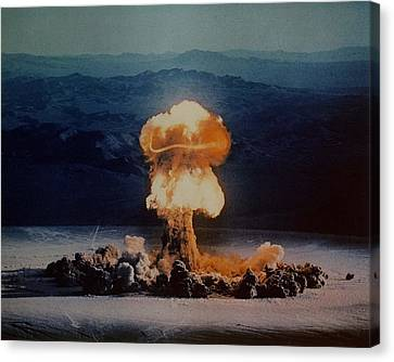 The Priscilla Shot Was A 37 Kiloton Canvas Print by Everett