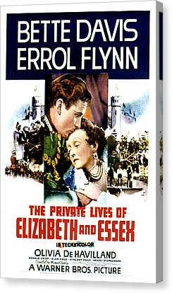 The Private Lives Of Elizabeth And Canvas Print by Everett