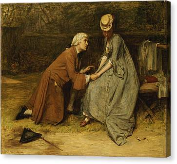 The Proposal Canvas Print by John Pettie