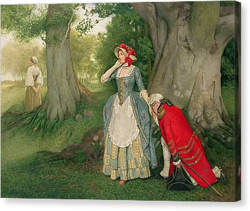 I Ask Canvas Print - The Proposal by Sir James Dromgole Linton