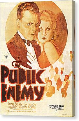 The Public Enemy Canvas Print by Georgia Fowler