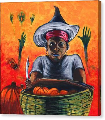 The Pumpkin Vendor  Canvas Print