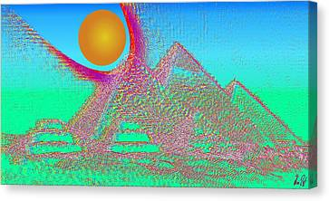 The Pyramids Canvas Print by Helmut Rottler