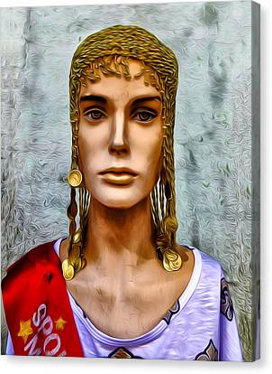 The Queen Of Bourbon Street Canvas Print by Bill Cannon