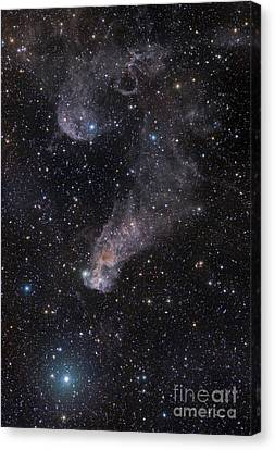 The Question Mark Nebula In Orion Canvas Print by John Davis