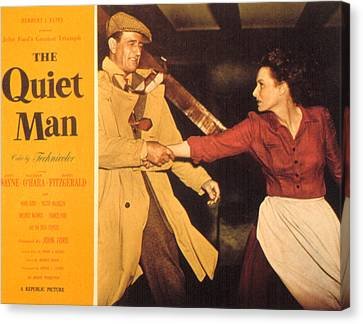 Posth Canvas Print - The Quiet Man, John Wayne, Maureen by Everett