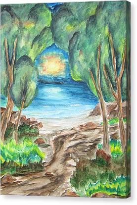 The Quiet Ocean -wcs Canvas Print by Cheryl Pettigrew