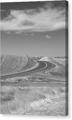 Canvas Print featuring the photograph The Quiet Road by Kathleen Grace