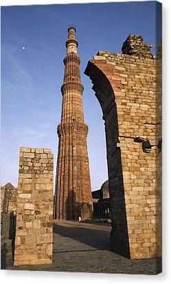 The Qutab Minar Tower, Built Canvas Print by Gordon Wiltsie