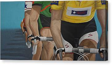 The Race Canvas Print by Jennifer Lynch