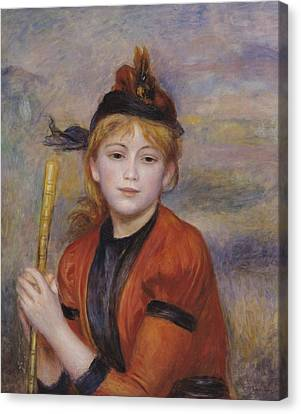 Youthful Canvas Print - The Rambler by Pierre Auguste Renoir