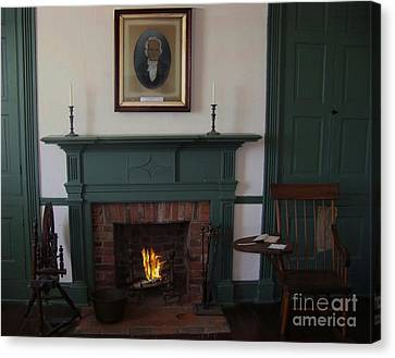 The Rankin Home Fireplace Canvas Print by Charles Robinson