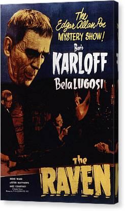 The Raven, Boris Karloff, Bela Lugosi Canvas Print by Everett