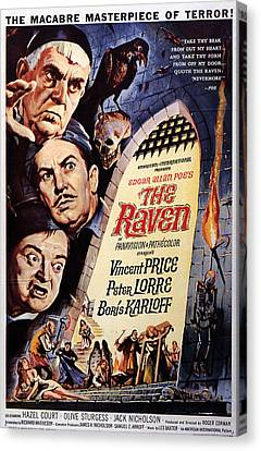 The Raven, Peter Lorre, Boris Karloff Canvas Print