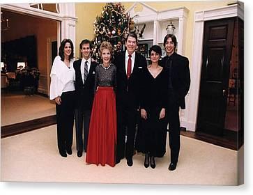 The Reagan Family Christmas Portrait Canvas Print by Everett