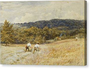 The Reapers Canvas Print by Helen Allingham