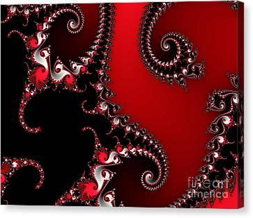 The Red And Black Canvas Print by Tatjana Popovska