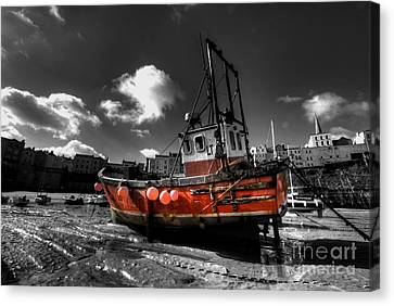 The Red Fishing Boat Canvas Print