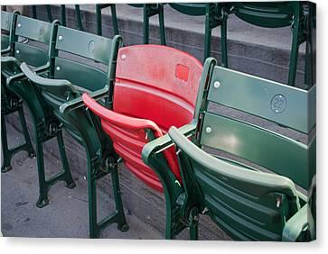The Red Seat Canvas Print by Joseph Maldonado